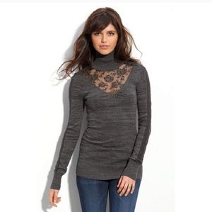 Free People gray turtleneck sweater